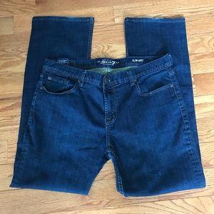 Seven 7 men's blue  jeans, slim boot, 38x34